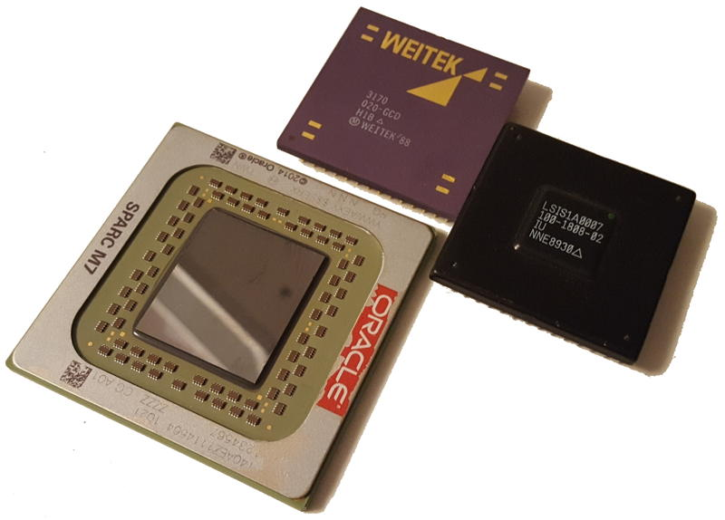SPARC M7 next to SPARC 1 - 29 years appart